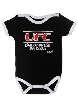 Body Divertido para Bebê UFC Manga Curta