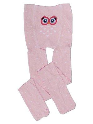 Meia Legging Corujinha Infantil Menina Puket