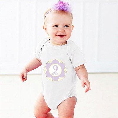Adesivo Meses do Bebê Flor Stixx
