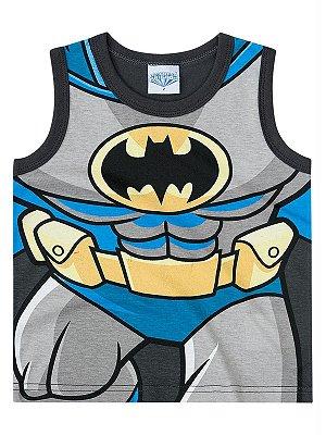 Camiseta Brandili Regata Batman Preta