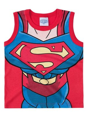 Camiseta Brandili Regata Super Homem Vemelha