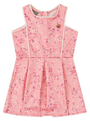 Vestido Brandili Mundi Acetinado Sem Manga Rosa