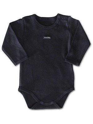 Body para Bebê Mini Baby Longa Azul Marinho