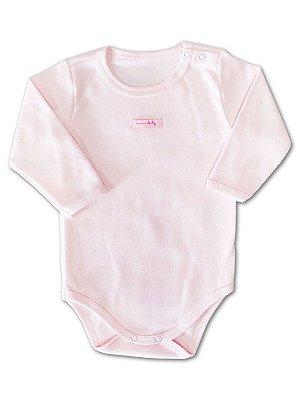 Body para Bebê Mini Baby Longa Rosa