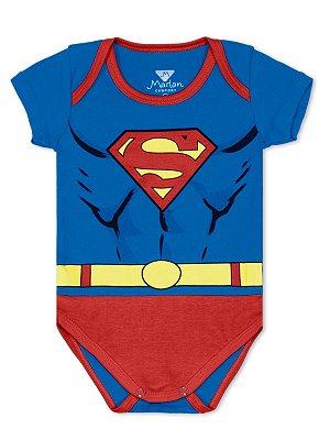 Body Marlan Super Homem Azul