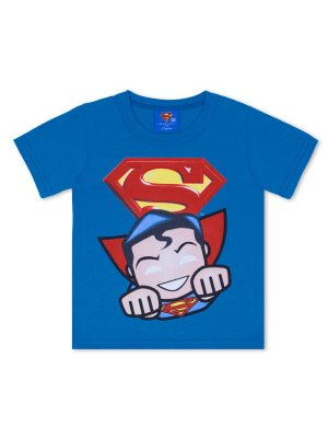 Camiseta Marlan Curta Super Homem Azul