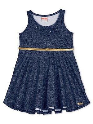 Vestido Marlan Alças com Cinto Azul