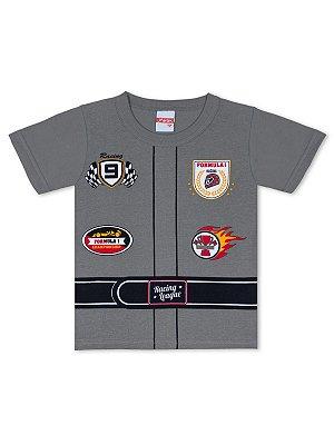 Camiseta Marlan Curta Fantasia Piloto Cinza