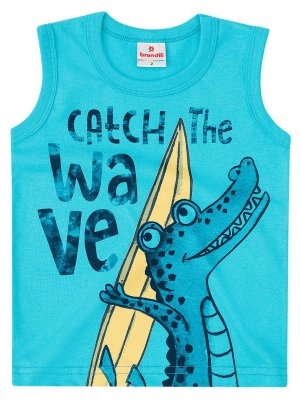 Regata Brandili Malha Catch The Wave Azul Turquesa