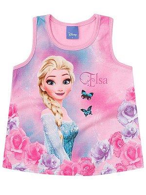 Regata Brandili Malha Frozen Elsa Rosa