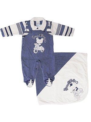 Saída de Maternidade Sonho Meu Speeway Azul