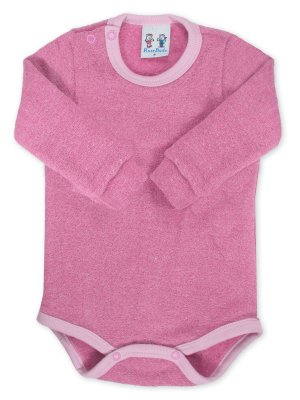 Body para Bebê RoseBud Longa em Soft Glacê Peluciado Rosa