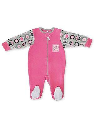 Macacão Pijama Be Little Corujita em Soft Pink