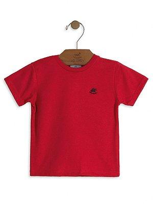 Camiseta Up Baby Básica Manga Curta Vermelha
