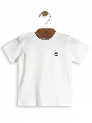Camiseta Up Baby Básica Manga Curta Branca