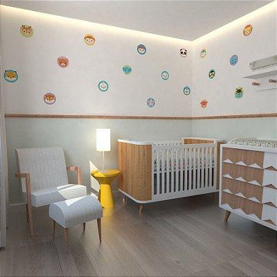 Adesivo Decorativo Stixx Infantil Redondos Animais