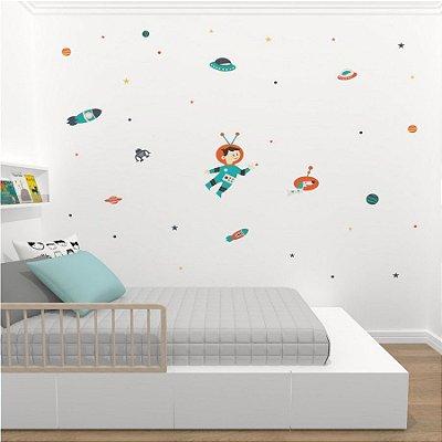 Adesivo de Parede Stixx Decorativo Infantil Menino do Espaço