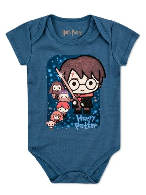 Body Marlan Curta Harry Potter Azul