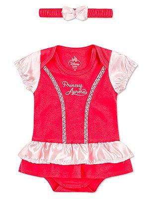 Body Marlan com Tiara Fantasia Princesa Aurora Pink