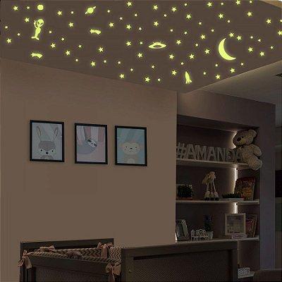 Adesivo Stixx Infantil de Parede Fotoluminescente Estrelas
