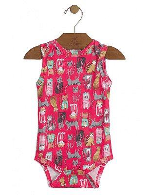 Body Regata Up Baby Gatinhos Pink