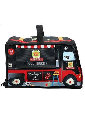 Mochila Ó Design Infantil para Brinquedos Food Truck Preta