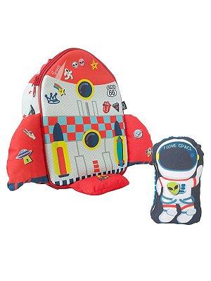 Mochila Baby Ó Design Foguete com boneco