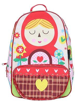 Mochila Escolar Ó Design Infantil Chapeuzinho Vermelho