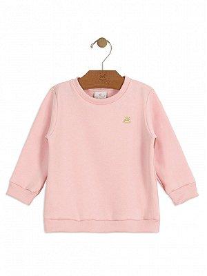 Blusão Up Baby Peluciado Longa Básico Rosa