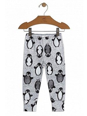 Calça Up baby Culote Suedine Pinguim Cinza