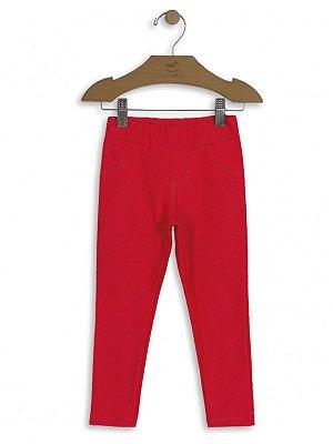 Calça Jegging Up Baby Malha Jeans Vermelha