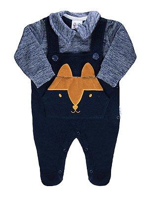 Macacão RoseBud para bebê Longa Fox