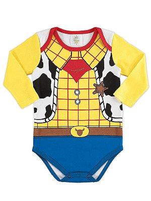 Body para bebê Marlan Fantasia Manga Longa Woody