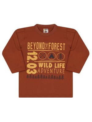 Camiseta Molekada Infantil Longa Beyond The Forest Marrom