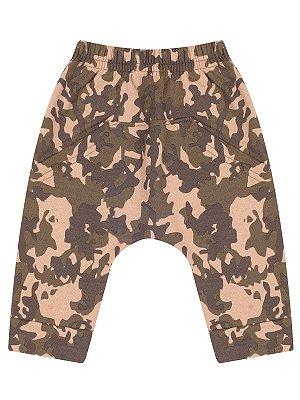 Calça Saruel Molekada Bebê Camuflada Militar