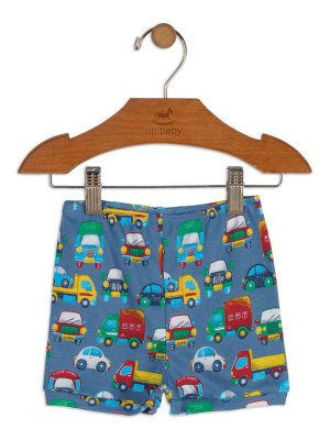 Short Up Baby Suedine Carros Azul