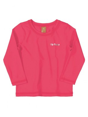 Camiseta Surfista Up Baby Longa FPS Pink Fluor