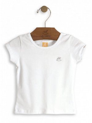 Blusa Up Baby Manga Curta Cotton Básica Branca