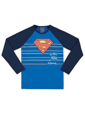 Camiseta Surfista Marlan Longa Superman FPS Azul