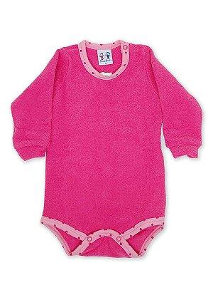 Body para Bebê RoseBud Longa Soft Glacê Peluciado Pink