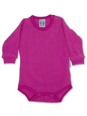 Body para Bebê RoseBud Longa em Soft Glacê Peluciado Pink