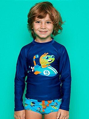 Camiseta Puket Infantil Surfista FPS Submarino Azul