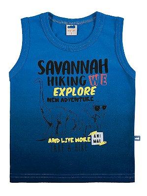 Camiseta Regata Marlan Infantil em Malha Savannah Azul