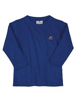 Camiseta Up Baby Básica Manga Longa Azul
