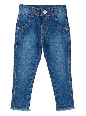 Calça Up Baby Jeans infantil menina azul