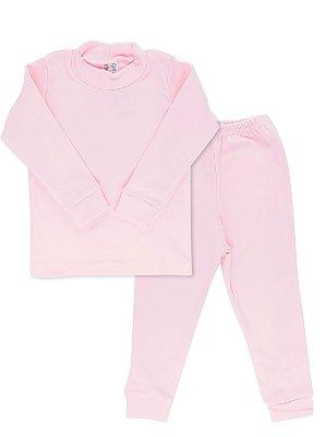 Conjunto Blusa Calça Rosebud Canelado Rosa