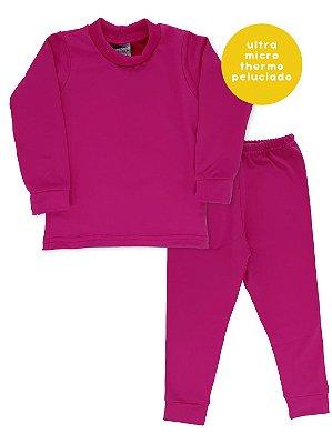 Conjunto Cacharrel e Calça Rosebud Ultramicro Thermo Pink
