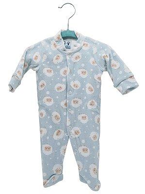 Macacão Rosebud para Bebê Plush Carneirinho Azul