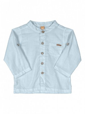 Camisa Infantil Up Baby Longa Tecido Plano Azul