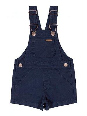 Jardineira Infantil Up Baby em Sarja Azul Marinho
